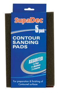 Supadec Contour/Sanding Pads 5 Pack Assorted Assorted