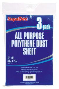Supadec All Purpose Polythene Dust Sheets 12' X 9'