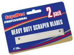 Supadec Angled Scraper Blades Pack Of 2