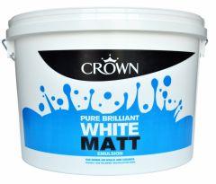Crown Matt Emulsion 10L Pure Brilliant White