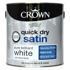 Crown Quick Dry Satin 2.5L Pure Brilliant White