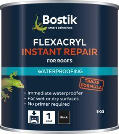 Bostik Flexacryl Instant Waterproof Compound 1Kg Black