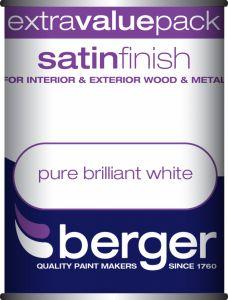 Berger Satin Sheen 1.25L Pure Brilliant White