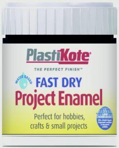 Plastikote Fast Dry Enamel Brush On Matt Black - 59Ml Bottle
