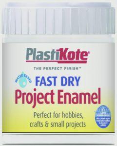 Plastikote Fast Dry Enamel Brush On Gloss White - 59Ml Bottle