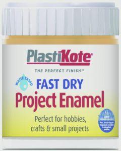 Plastikote Fast Dry Enamel Brush On Sunshine Yellow - 59Ml Bottle