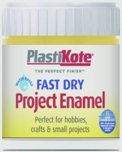 Plastikote Fast Dry Enamel Brush On Buttercup Yellow - 59Ml Bottle