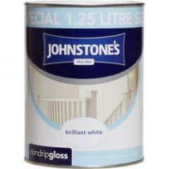 Johnstone's Non Drip Gloss - Brilliant White 1.25L