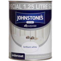 Johnstone's All Purpose Undercoat - Brilliant White 1.25L