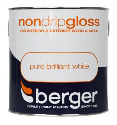 Berger Non Drip Gloss 2.5L Pure Brilliant White