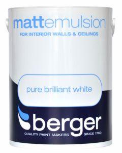 Berger Vinyl Matt 5L Pure Brilliant White