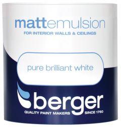 Berger Vinyl Matt 1L Pure Brilliant White