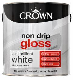 Crown Non Drip Gloss 2.5L Pure Brilliant White