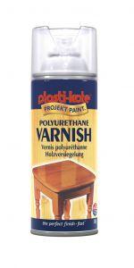 Plastikote Polyurethane Varnish 400Ml Clear Satin
