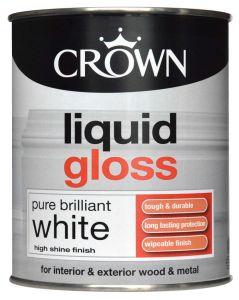 Crown Liquid Gloss 750Ml Pure Brilliant White