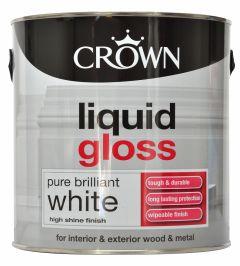 Crown Liquid Gloss 2.5L Pure Brilliant White