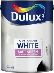 Dulux Soft Sheen 5L Pure Brilliant White