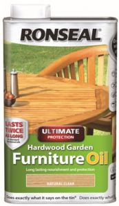 Ronseal Hardwood Furniture Oil 1L Natural Teak