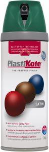 PlastiKote Twist & Spray Paint 400ml Hunt Green Satin