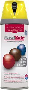 PlastiKote Twist & Spray Paint 400ml New Yellow Gloss