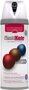 PlastiKote Twist & Spray Paint 400ml White Satin