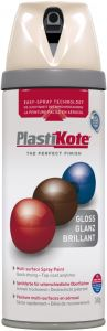 PlastiKote Twist & Spray Paint 400ml Antique White Gloss