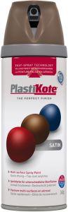 PlastiKote Twist & Spray Paint 400ml Chocolate Brown Satin