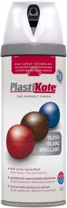 PlastiKote Twist & Spray Paint 400ml White Gloss