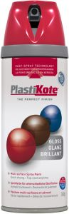 PlastiKote Twist & Spray Paint 400ml Bright Red Gloss