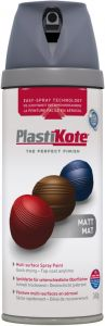 PlastiKote Twist & Spray Paint 400ml Grey Matt