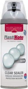 PlastiKote Twist & Spray Paint 400ml Clear Acrylic Satin
