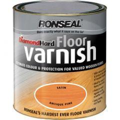 Ronseal Diamond Hard Coloured Floor Varnish Walnut - 2.5L