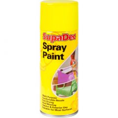 SupaDec Spray Paint 400ml Yellow