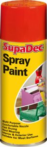 SupaDec Spray Paint 400ml Bright Red