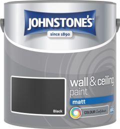 Johnstone's Wall & Ceiling Matt 2.5L Black