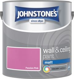 Johnstone's Wall & Ceiling Matt 2.5L Passion Pink