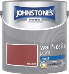 Johnstone's Wall & Ceiling Matt 2.5L Red Spice