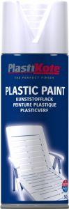 PlastiKote Plastic Spray Paint 400ml White Gloss
