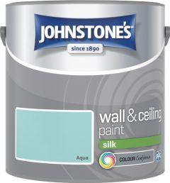 Johnstone's Wall & Ceiling Silk 2.5L Aqua