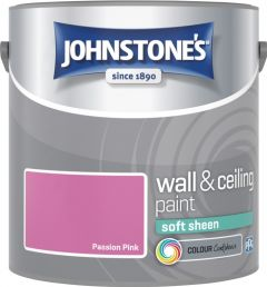 Johnstone's Wall & Ceiling Soft Sheen 2.5L Passion Pink