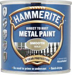 Hammerite Metal Paint Smooth 250ml Gold