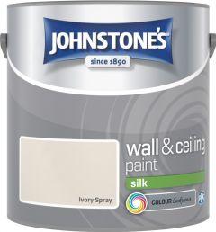Johnstone's Wall & Ceiling Silk 2.5L Ivory Spray