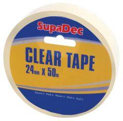 SupaDec Clear Tape 24mm x 50m
