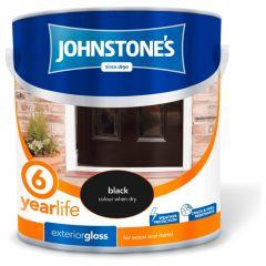 Johnstone's Exterior Hardwearing Gloss 2.5L Black