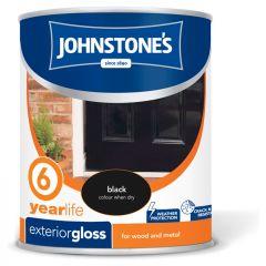 Johnstone's Exterior Hardwearing Gloss 750ml Black