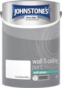 Johnstone's Wall & Ceiling Soft Sheen 5L Brilliant White
