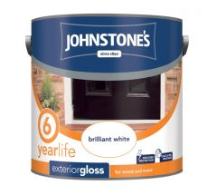 Johnstone's Exterior Hardwearing Gloss - Brilliant White 2.5L