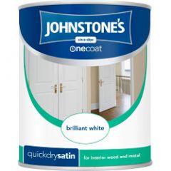 Johnstone's Quick Dry Satin 750ml Brilliant White