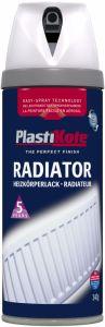 PlastiKote Radiator Spray Paint 400ml Satin White