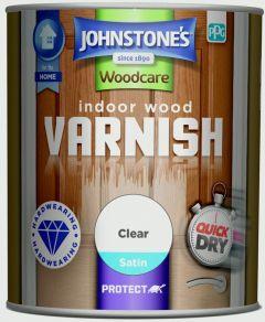 Johnstone's Indoor Wood Varnish - Clear Satin 750ml